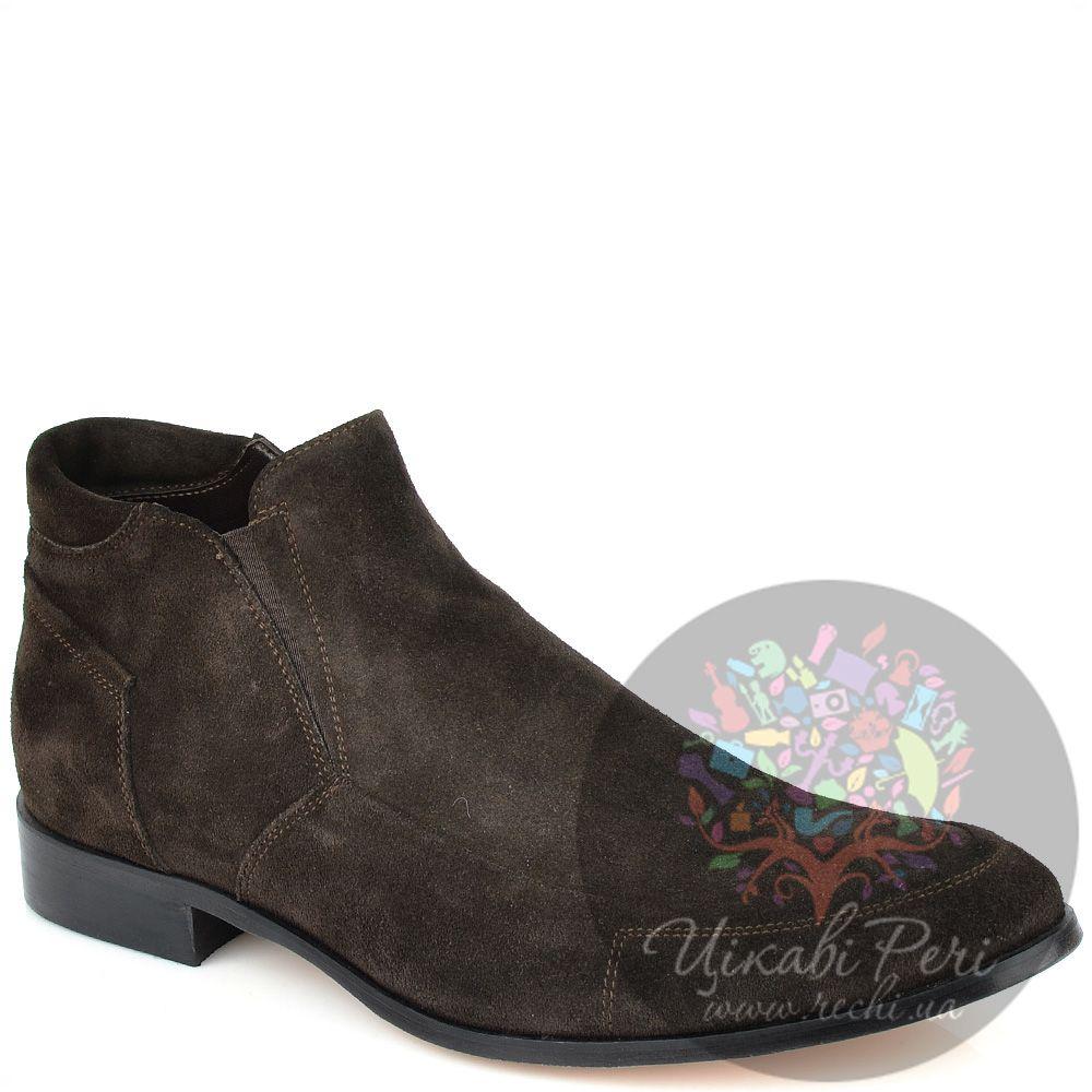 Ботинки GF Ferre осенние замшевые коричневые