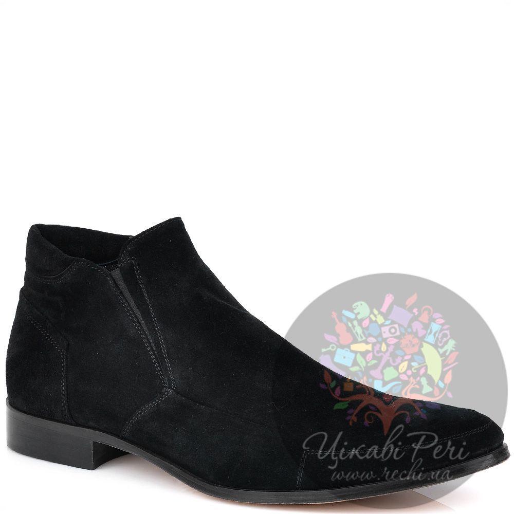Замшевые ботинки GF Ferre черного цвета