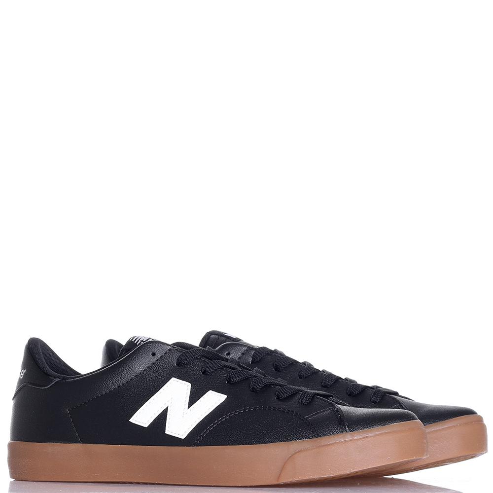 Кеды New Balance 210 из кожи черного цвета