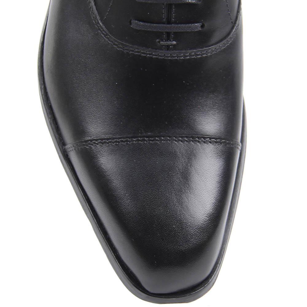 Туфли-дерби Borsalino черного цвета из гладкой кожи