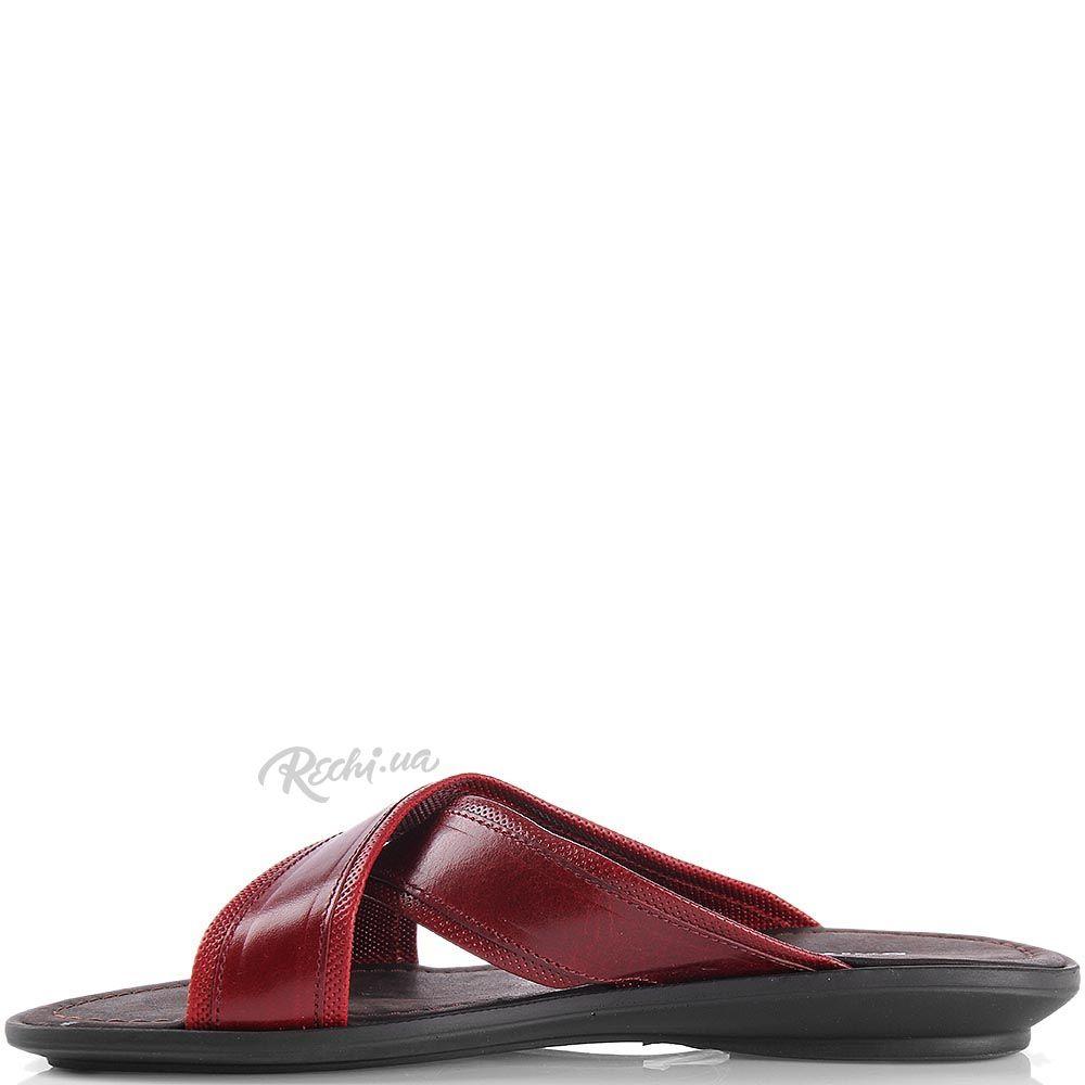 Кожаные сандалии Baldinini насыщенно-бордового цвета