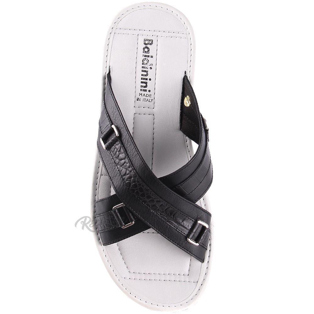 Мужские сандалии Baldinini черно-белые