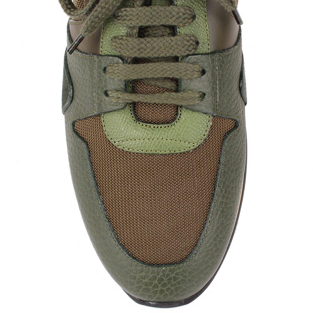 Мужские кроссовки Burberry цвета хаки
