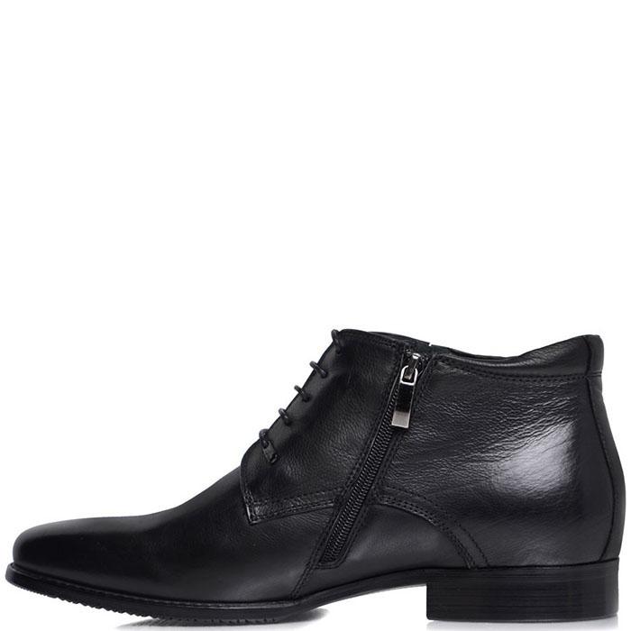 Ботинки Prego из натуральной кожи черного цвета на молнии