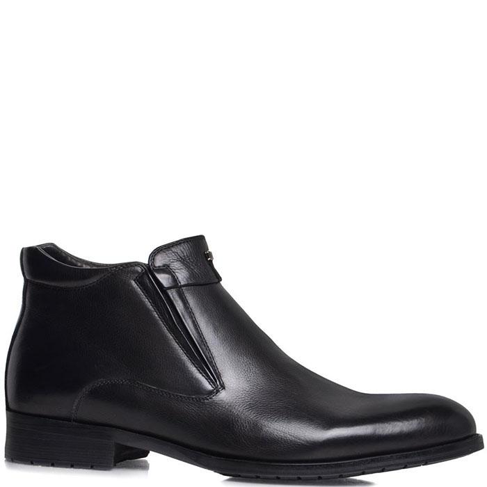 Мужские ботинки Prego из кожа черного цвета на молнии