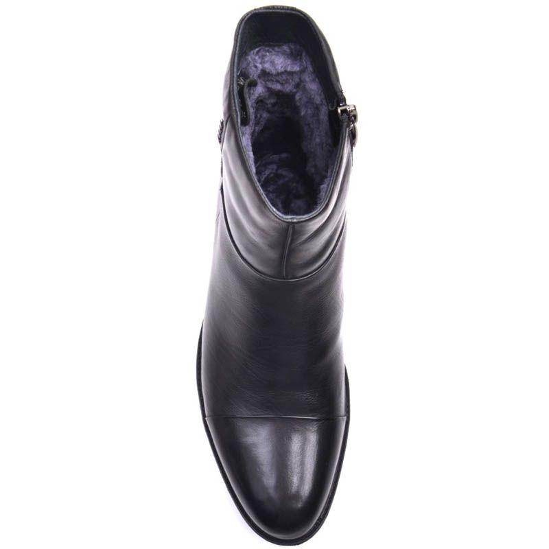 Ботинки Prego зимние кожаные высокие с мехом до щиколотки