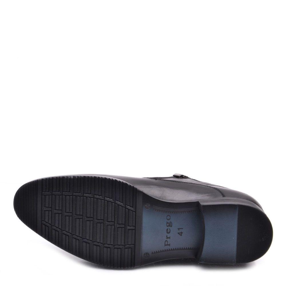 Черные ботинки Prego из кожи на молнии