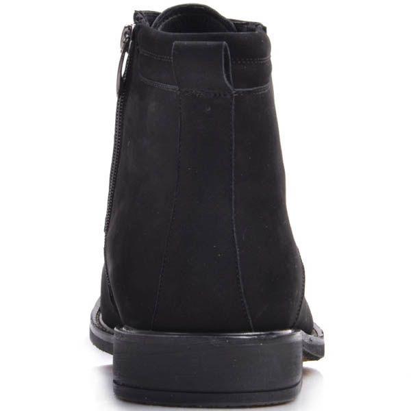 Ботинки Prego зимние черного цвета высокие из натуральной замши на шнуровке и с молнией