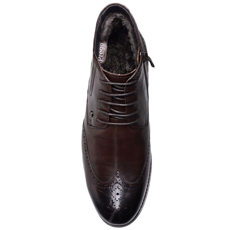 Ботинки-броги Prego из  кожа коричневого цвета