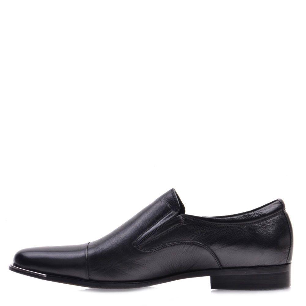 Мужские туфли Prego из кожа черного цвета