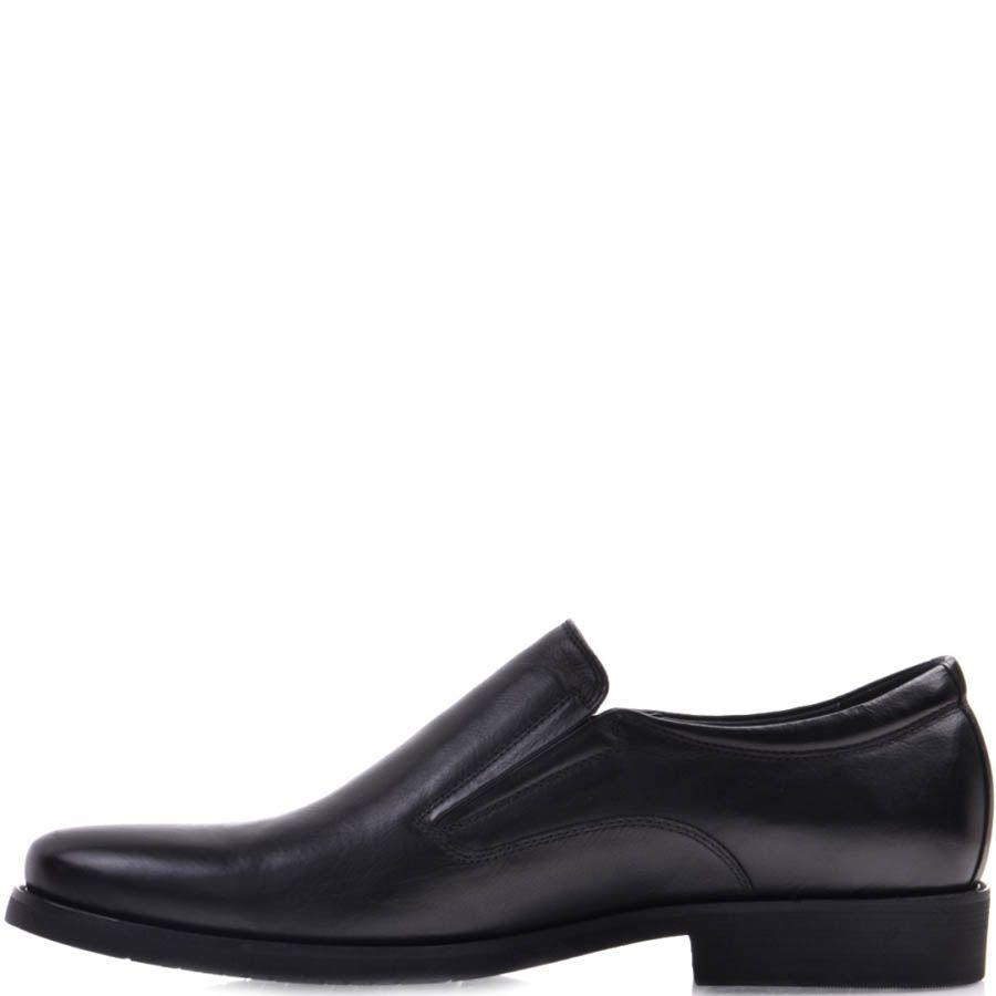 Туфли Prego черного цвета из гладкой натуральной кожи