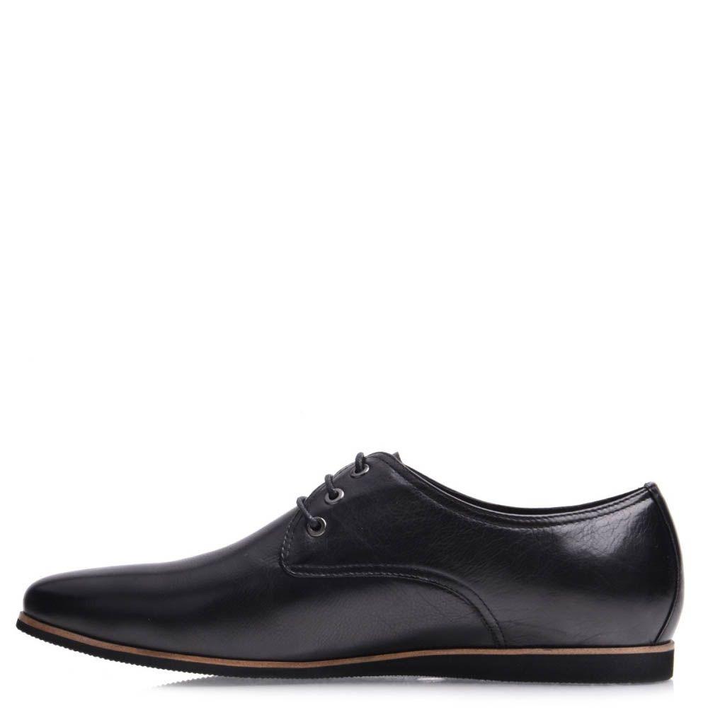 Туфли Grado мужские кожаные со светло-коричневой оконтовкой на подошве