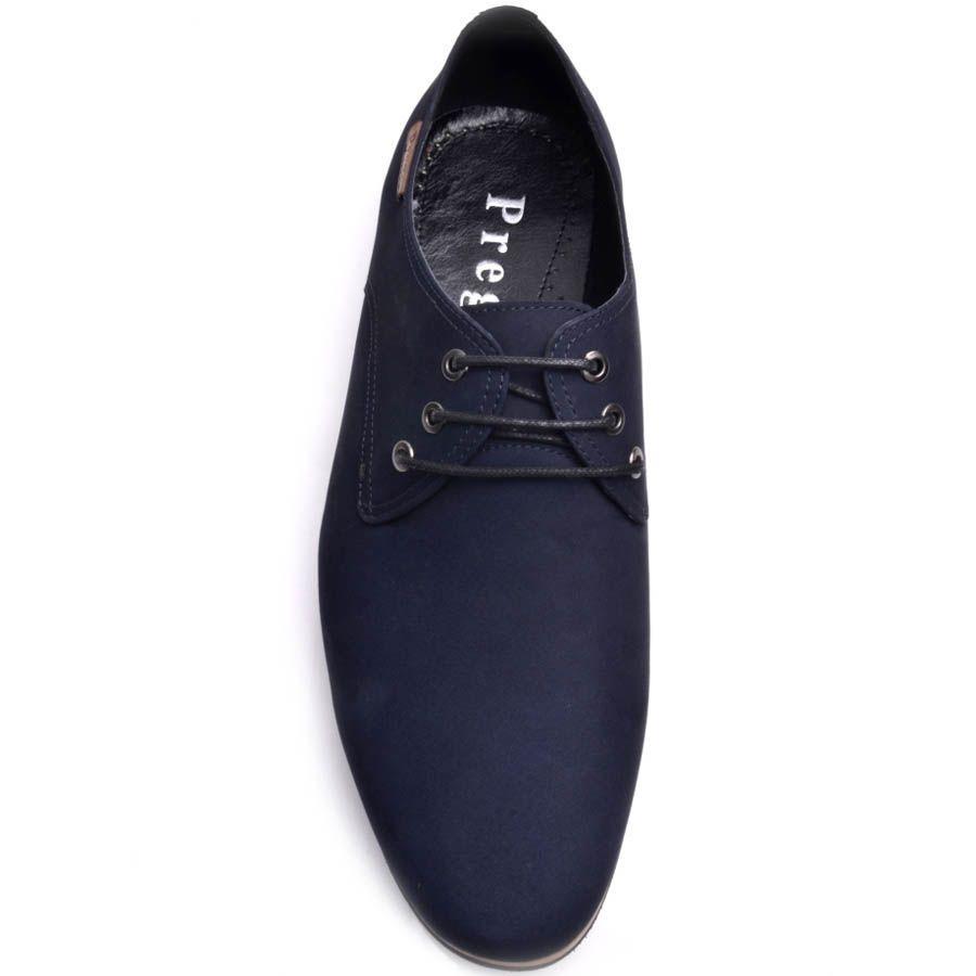 Туфли Prego мужские из синего нубука