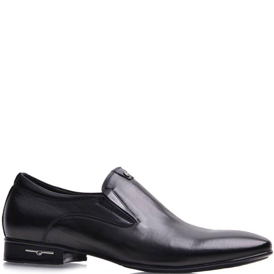 Туфли-лоферы Prego мужские черного цвета кожаные