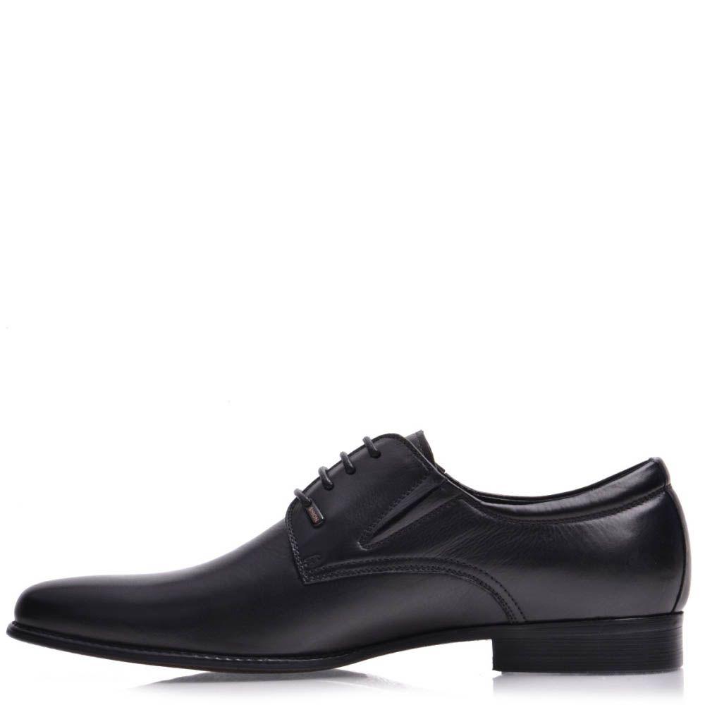 Туфли Prego мужские черного цвета кожаные с узким носком