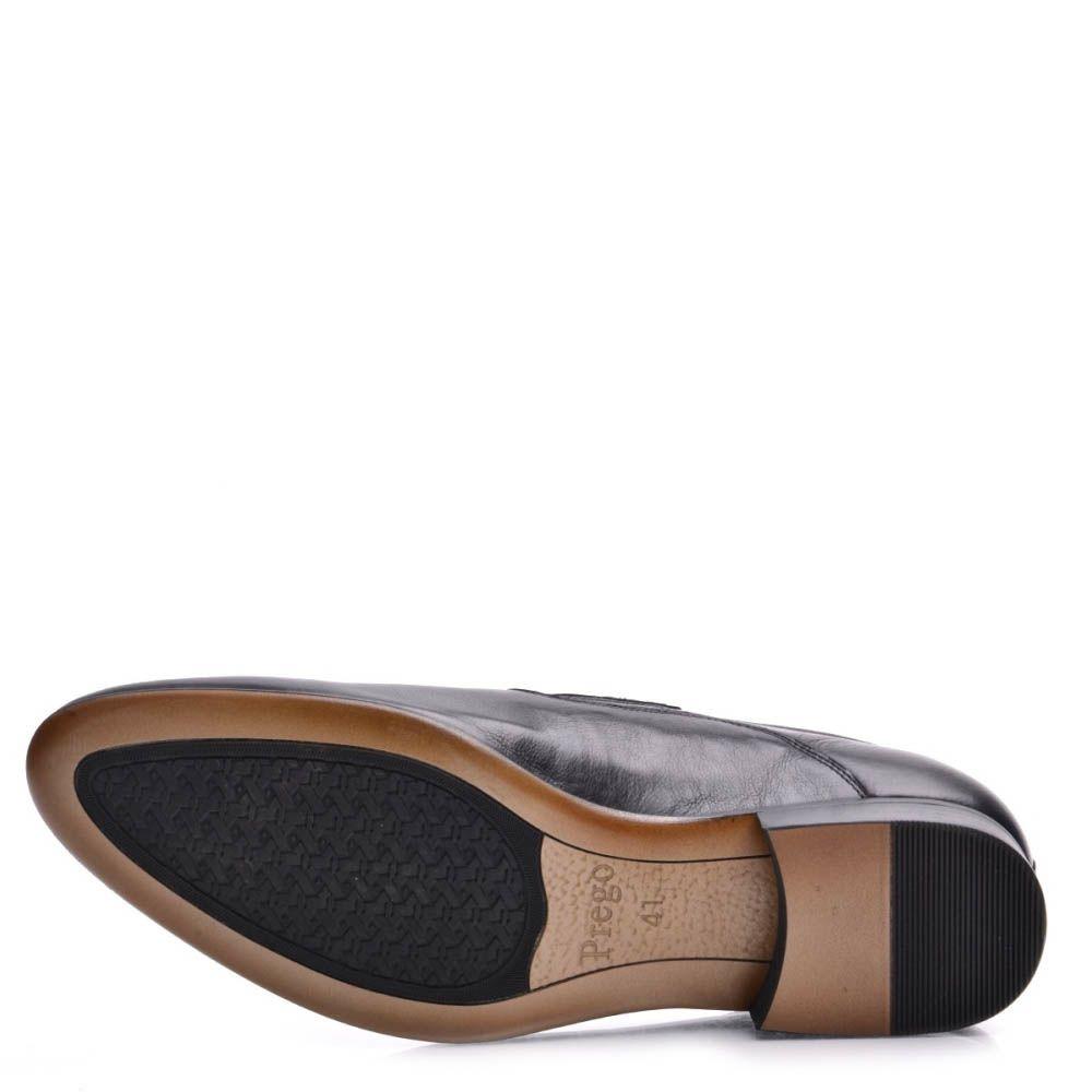 Туфли-лоферы Prego мужские со строчкой