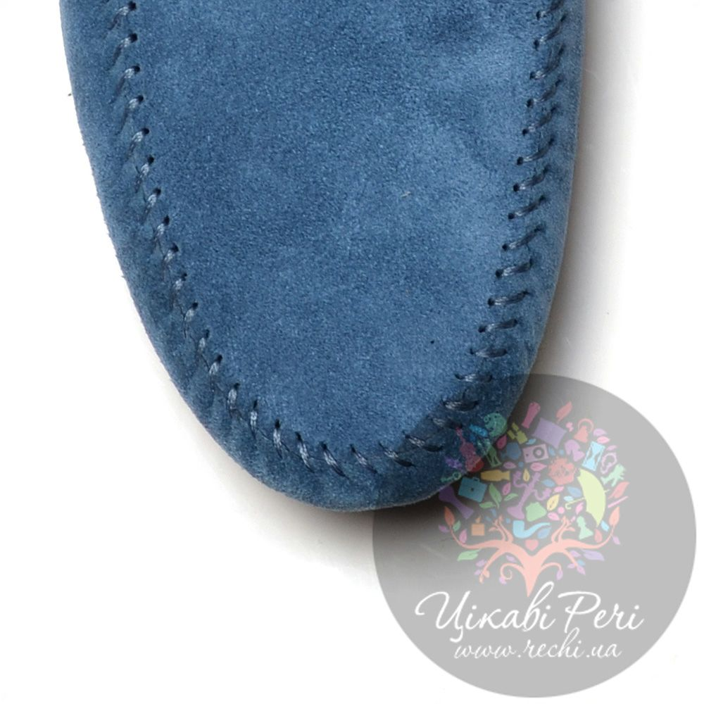 Мокасины Roberto Cavalli замшевые темно-голубые