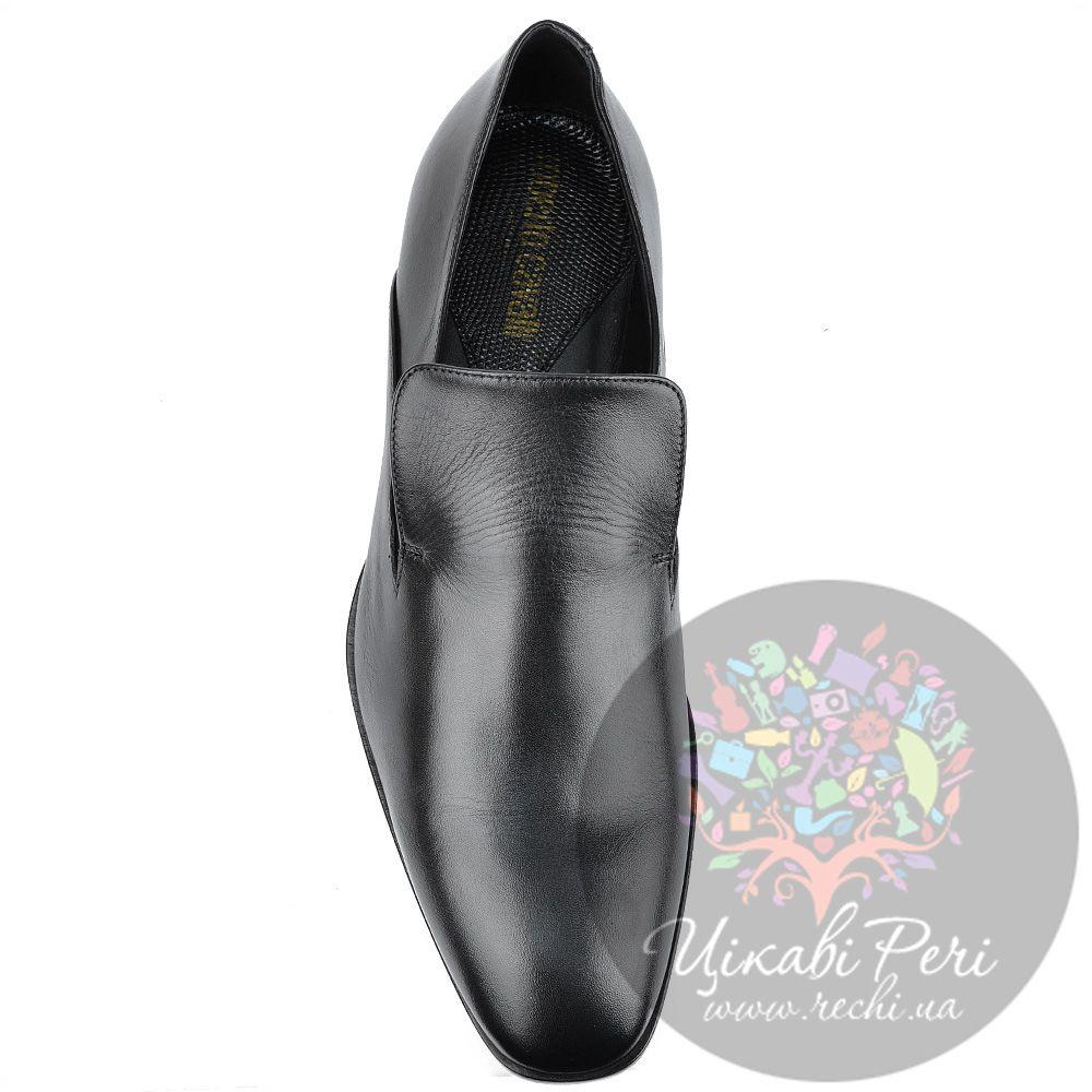 Туфли Roberto Cavalli закрытые черные кожаные