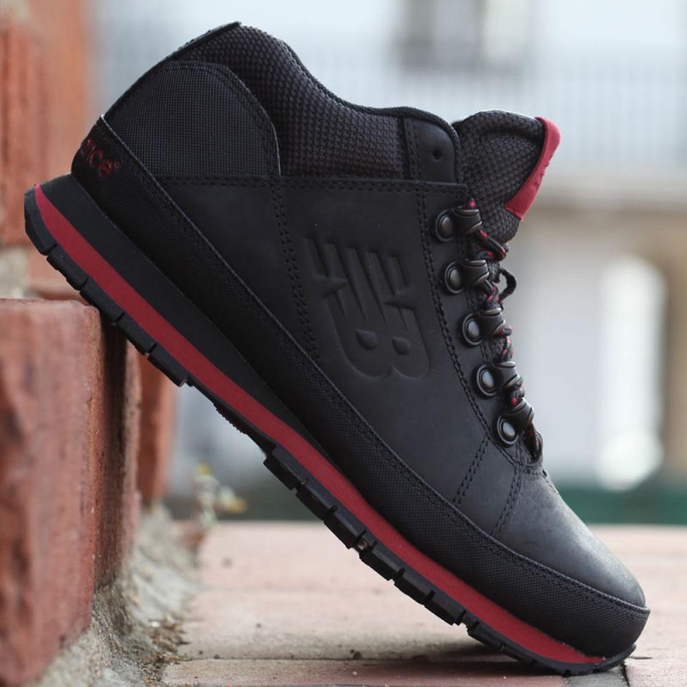 Утепленные кроссовки New Balance 754 из черной кожи