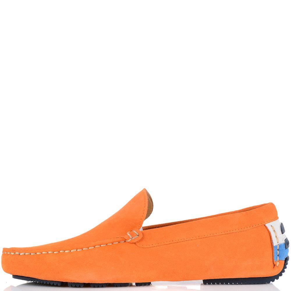 Мужские туфли-мокасины Harmont Blaine оранжевого цвета