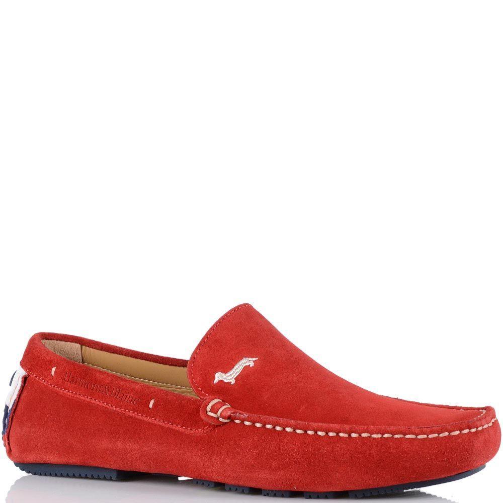 Красные мокасины Harmont Blaine с белой отделочной строчкой