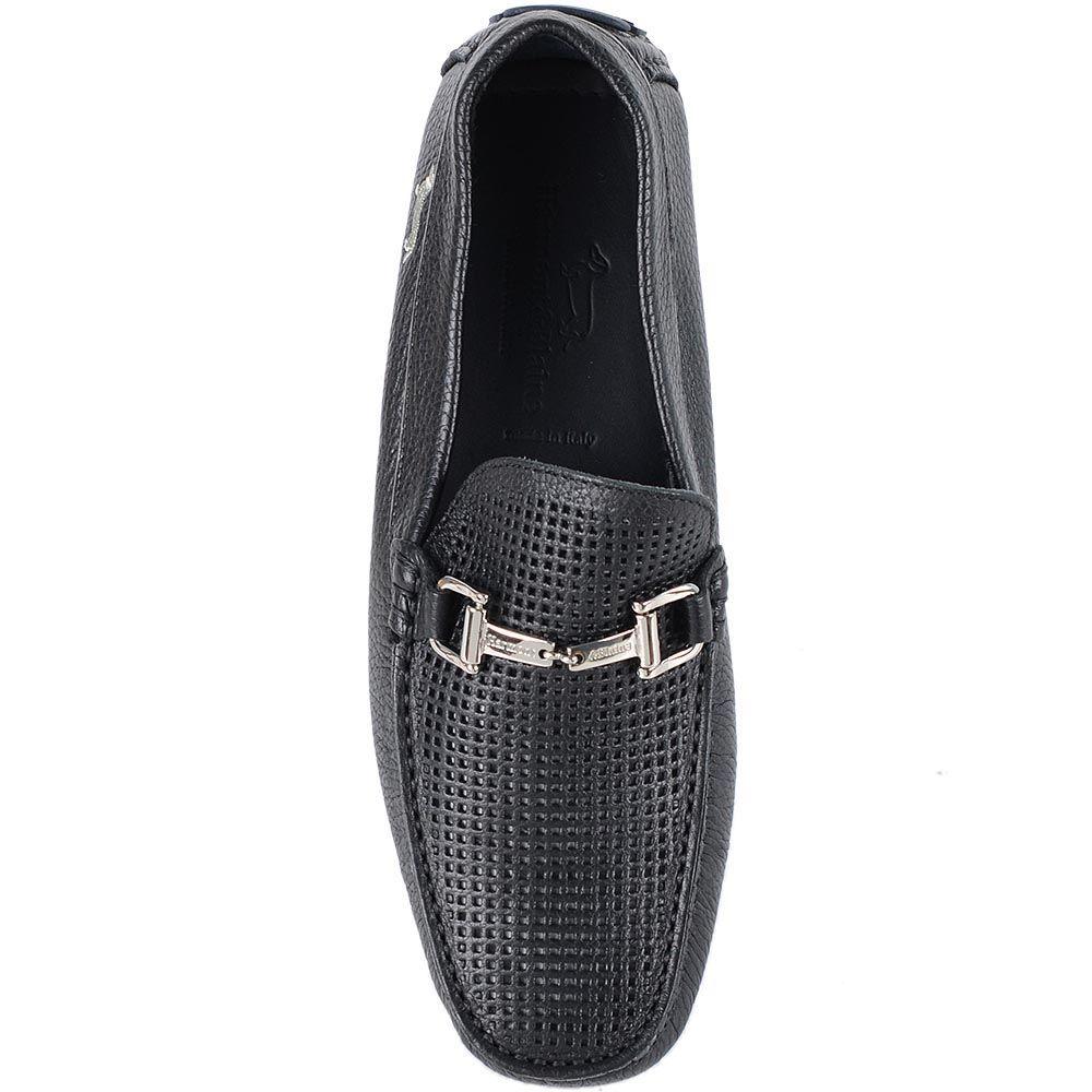 Туфли Harmont Blaine из кожи черного цвета с перфорацией