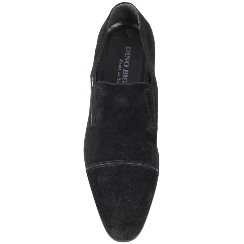 Замшевые туфли Dino Bigioni черного цвета во вставками-резинками
