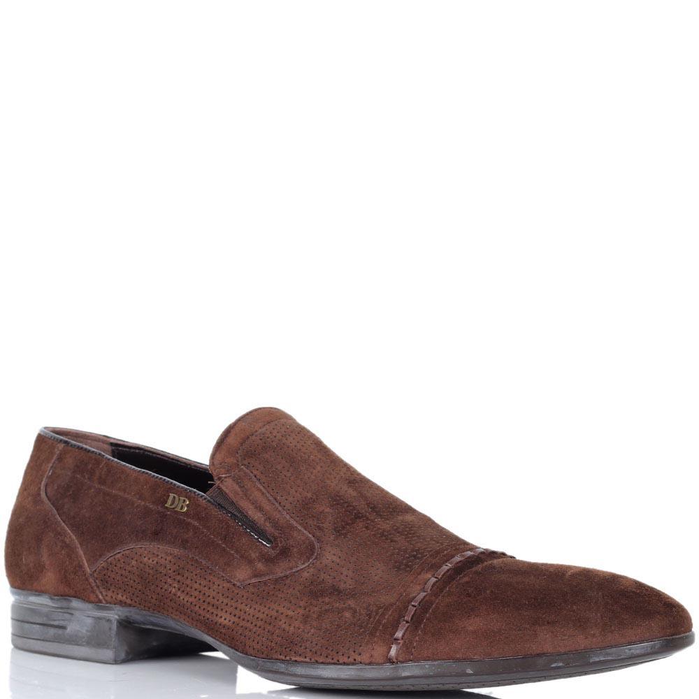 Туфли Dino Bigioni из натуральной замши коричневого цвета