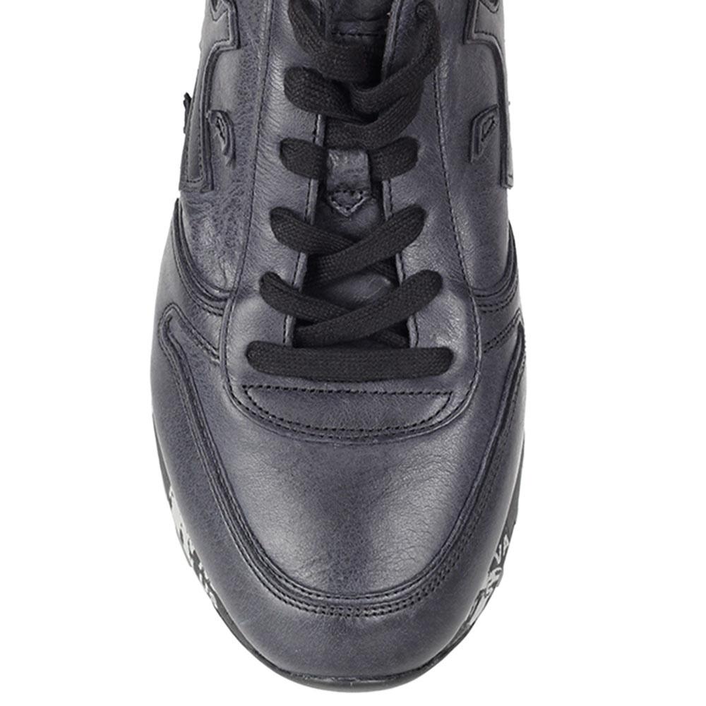 Кроссовки Premiata из натуральной кожи черного цвета на черно-белой подошве
