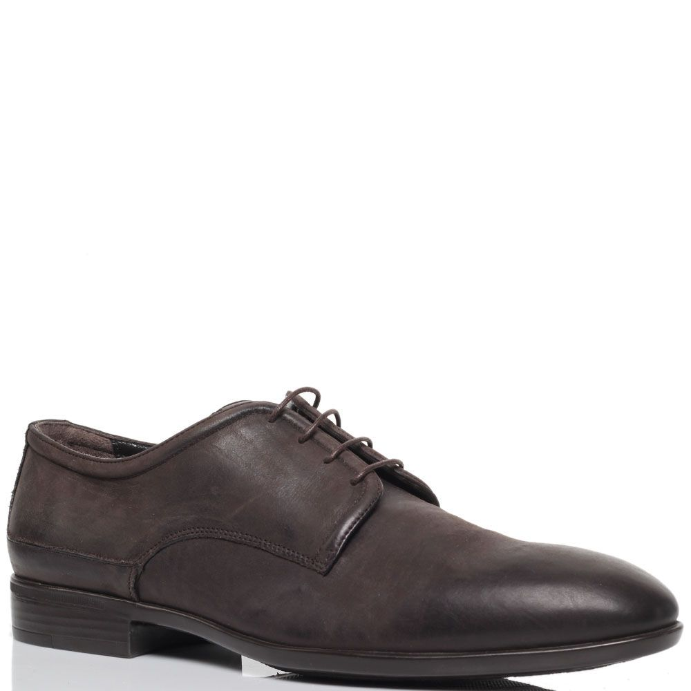 Коричневые туфли из нубука Richmond на шнуровке
