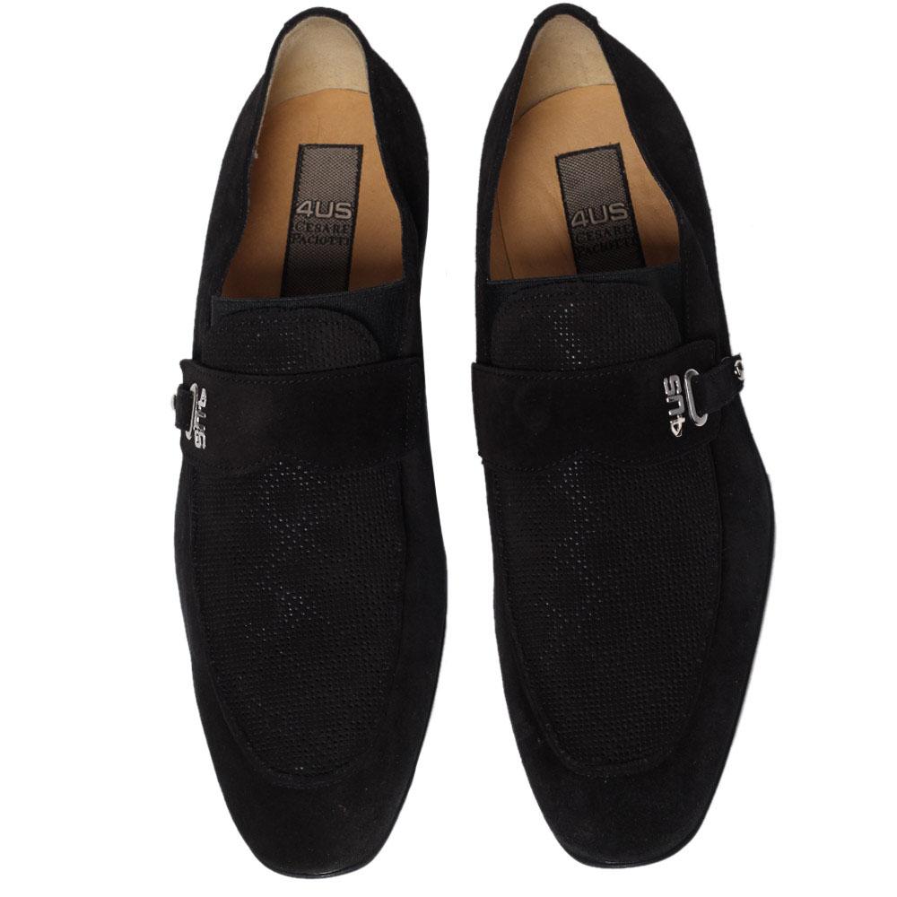Черные замшевые туфли Cesare Paciotti