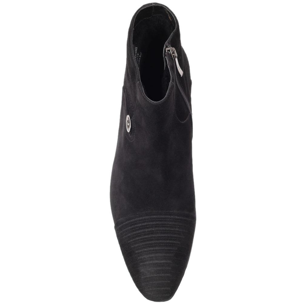 Зимние ботинки Giovanni Ciccioli из натуральной замши черного цвета