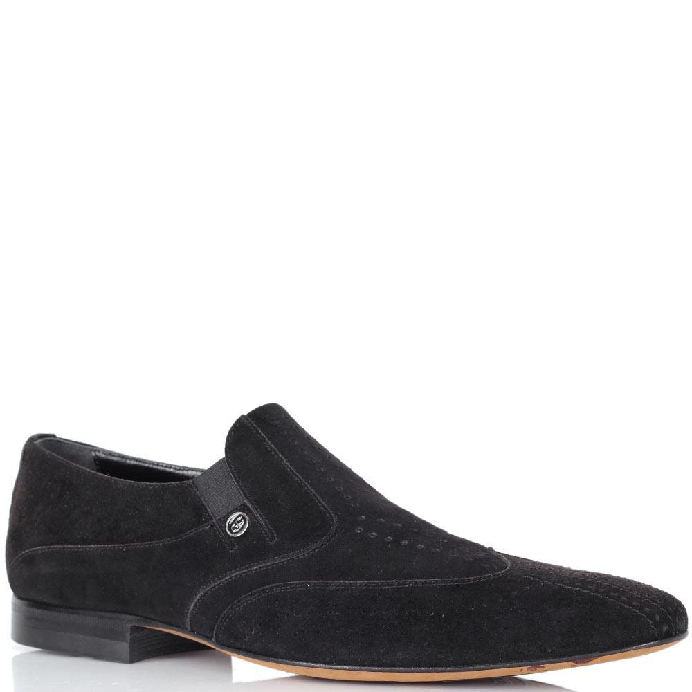 Мужские туфли Giovanni Ciccioli из натуральной замши черного цвета