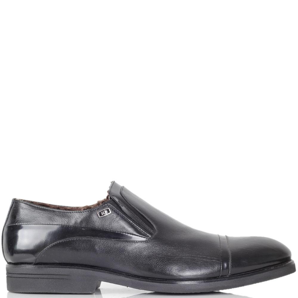 Туфли Mario Bruni из натуральной кожи черного цвета со вставками из полированной кожи