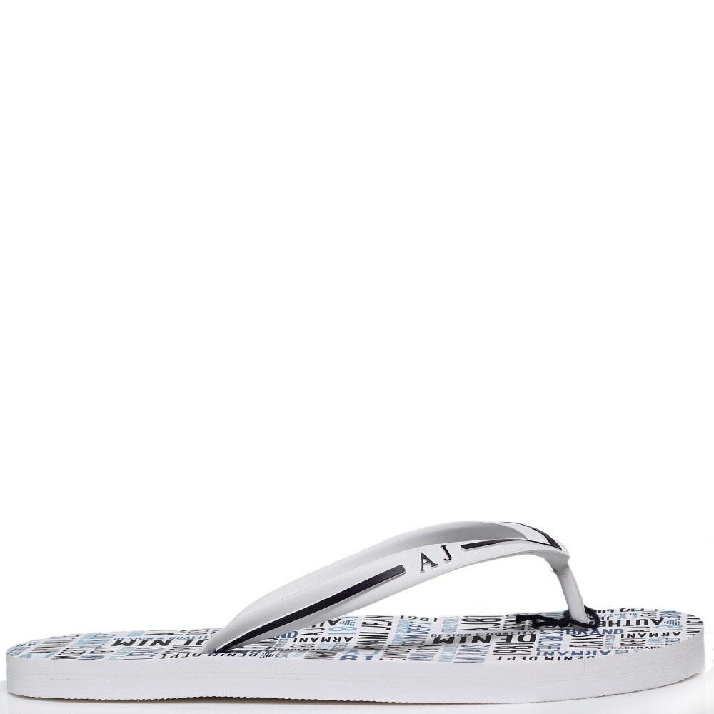 Сланцы из силикона белого цвета Armani Jeans