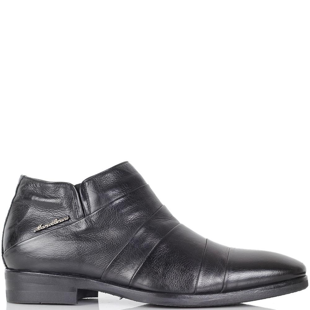 Зимние ботинки Mario Bruni черного цвета из натуральной кожи