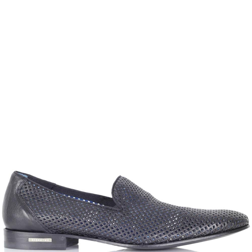 Летние туфли Richmond из кожи черного цвета с перфорацией