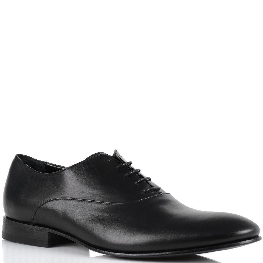 Классические мужские туфли John Richmond из гладкой кожи черного цвета