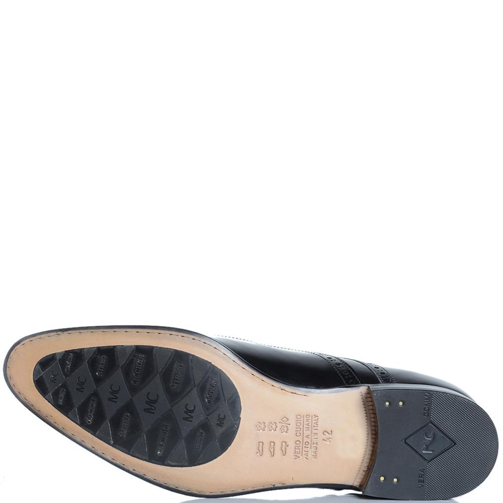 Туфли-броги Mirko Ciccioli из кожи черного цвета