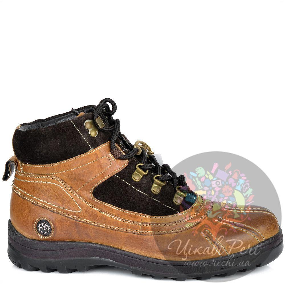 Ботинки Lumberjack коричнево-рыжие кожаные в спортивном стиле
