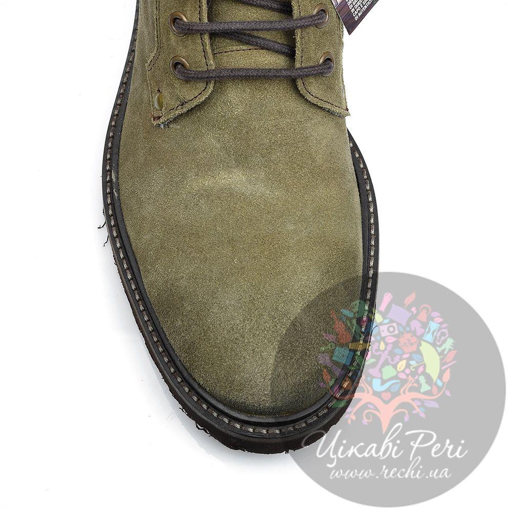 Ботинки Lumberjack серо-оливковые замшевые с текстильным утеплителем