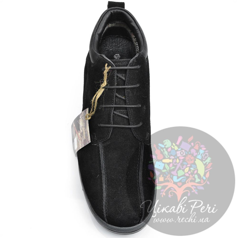 Ботинки Lumberjack замшевые черные с байковым утеплителем