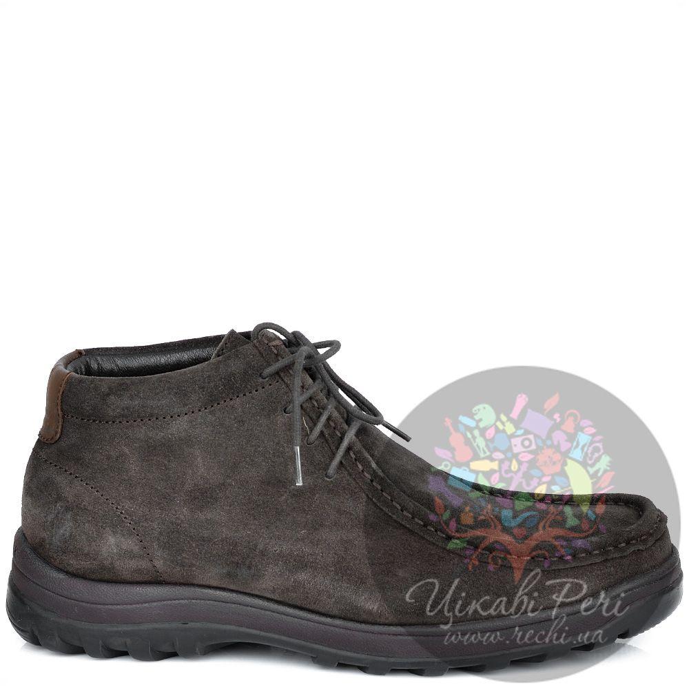 Ботинки Lumberjack коричневые замшевые с байковым утеплителем