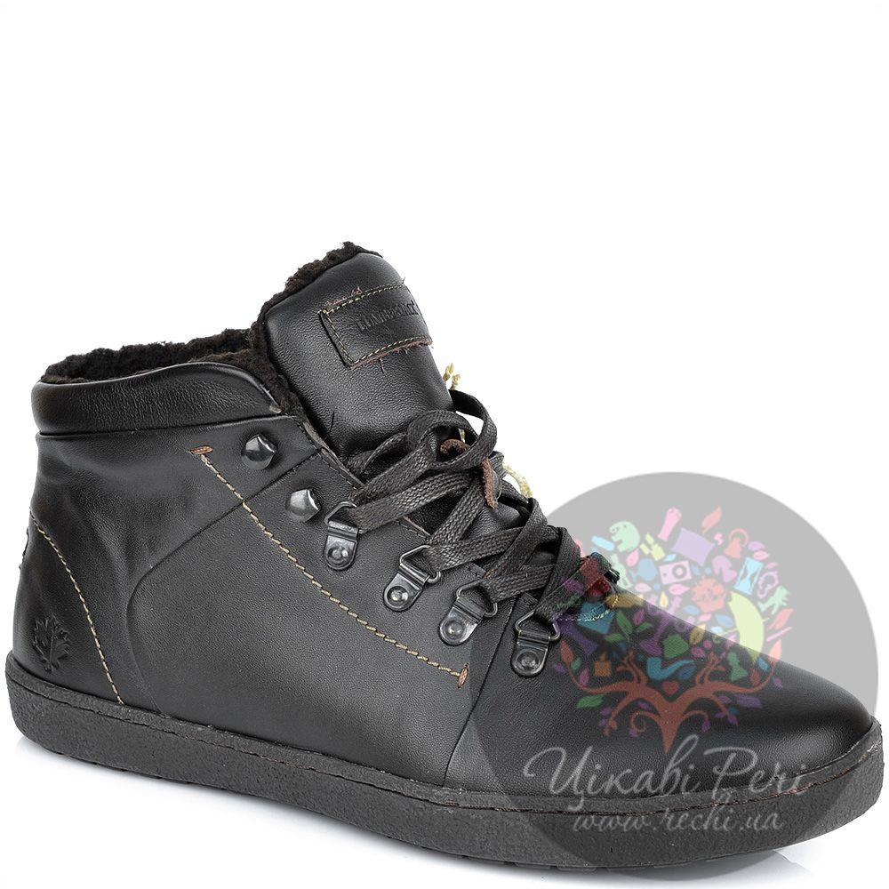 Ботинки Lumberjack темно-коричневые кожаные с утеплителем