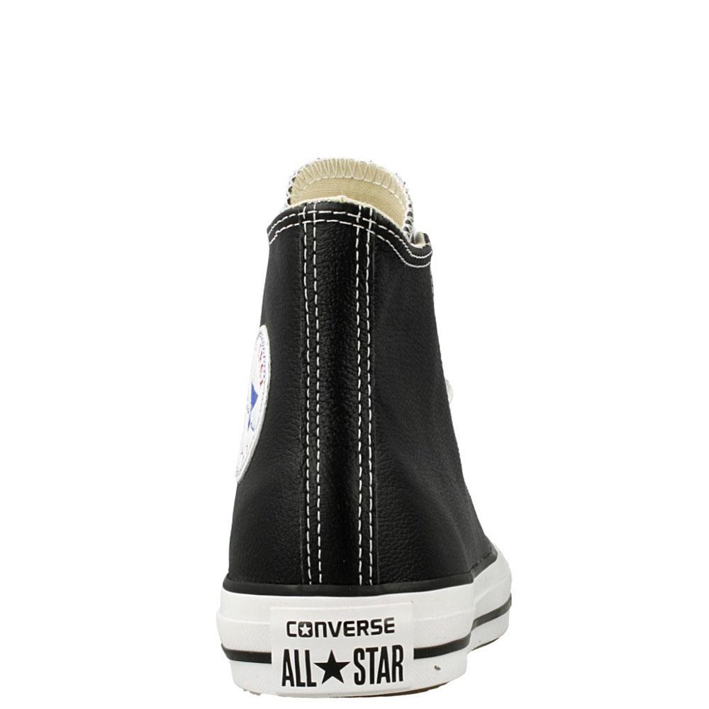 Мужские кожаные кеды Converse черного цвета
