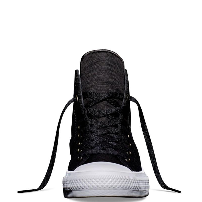 Мужские высокие кеды Converse черного цвета с белой подошвой
