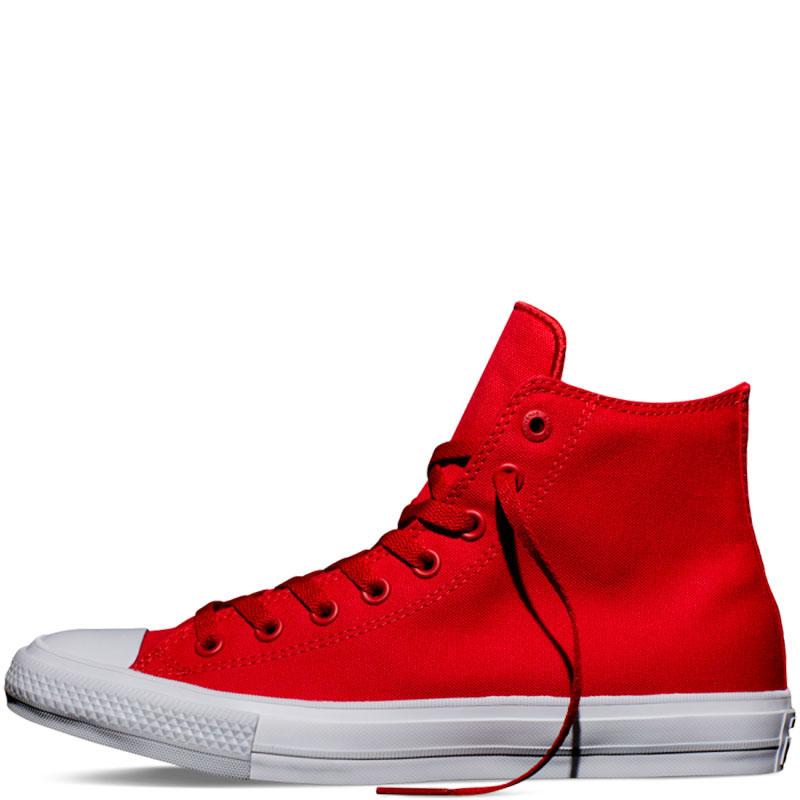 Мужские высокие красные кеды Converse