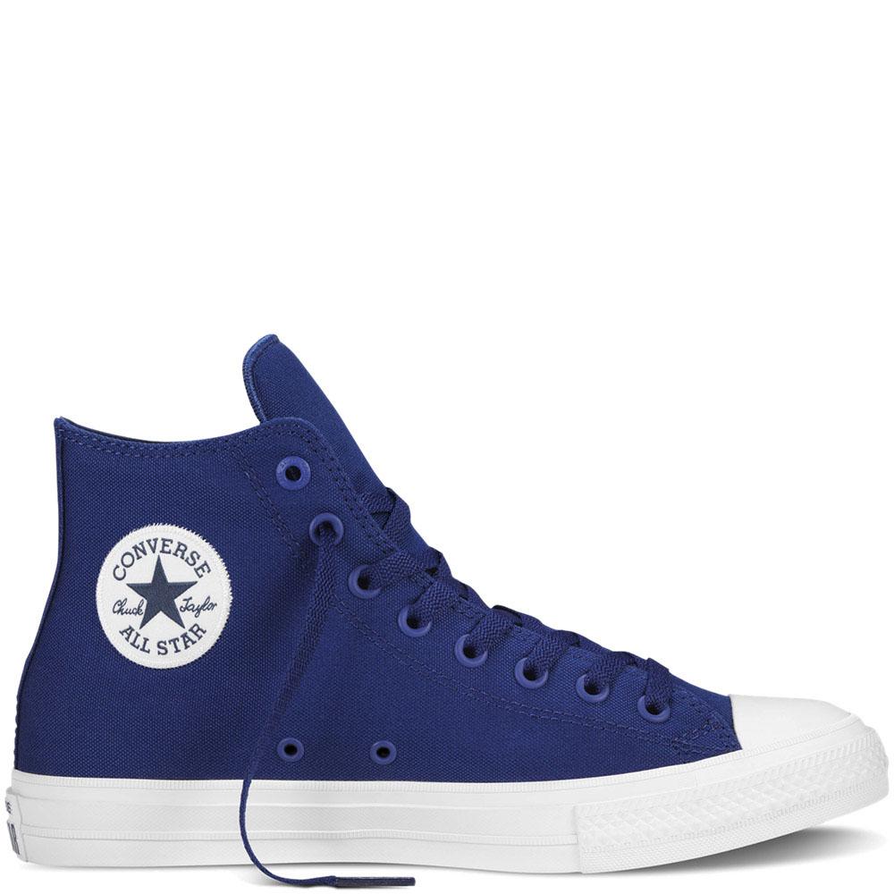 Мужские высокие кеды Converse синего цвета