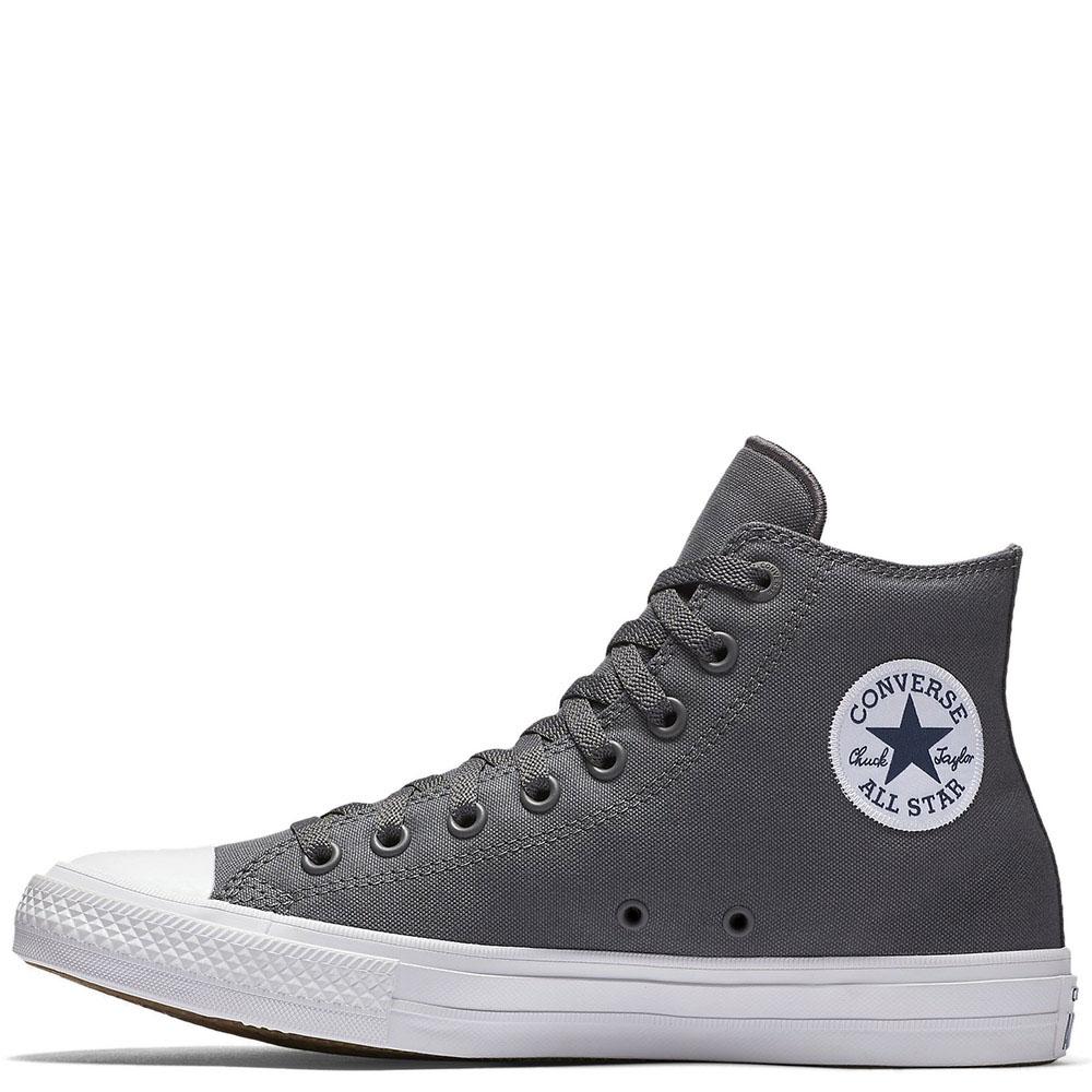 Мужские высокие кеды Converse серого цвета
