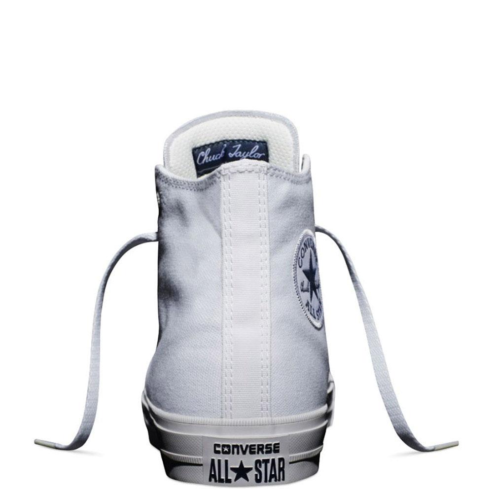 Мужские высокие кеды Converse белого цвета